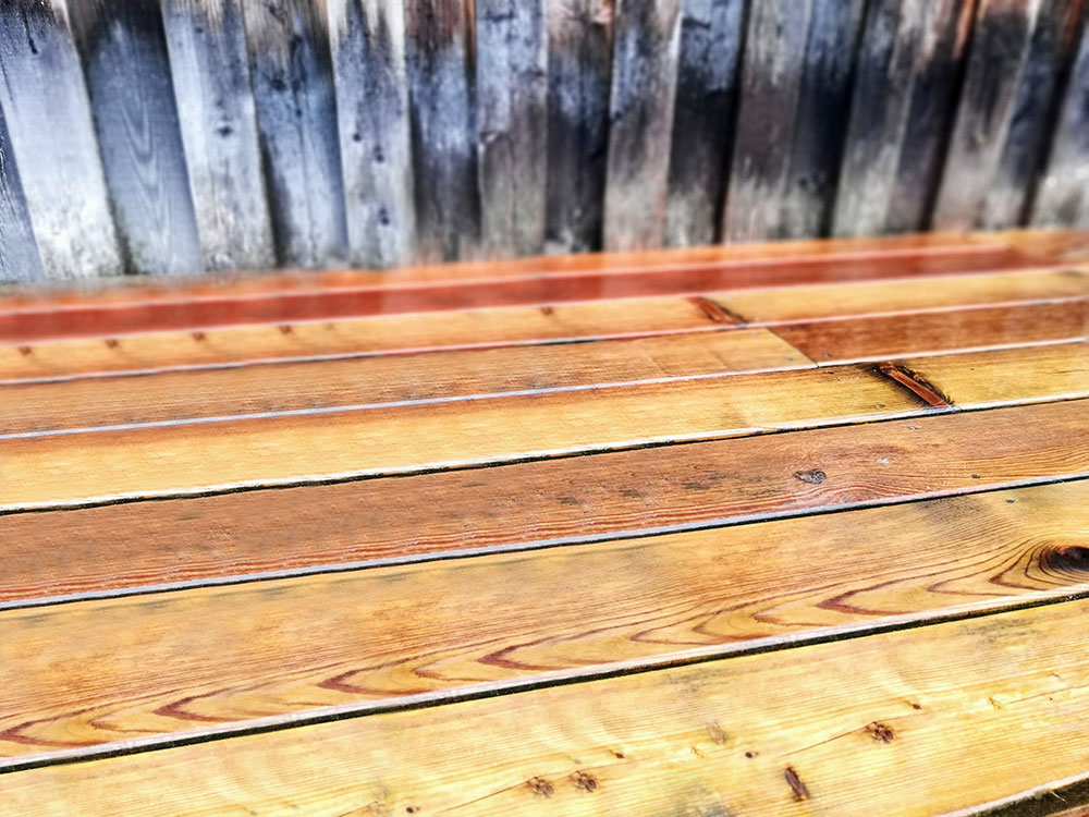 Holz sauber