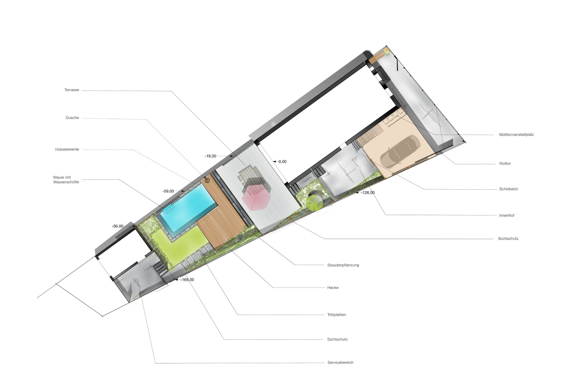 3raumGärtner Entwurfspläne